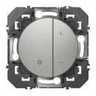 Variateur toutes lampes dooxie 2 fils sans Neutre finition aluminium - 095240 - Legrand
