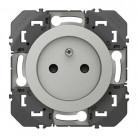 Prise de courant 2P+T à puits dooxie 16A finition aluminium - 600437 - Legrand