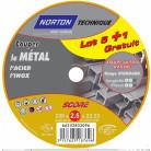 6 disques score 100 à tronçonner métal + inox diam. 230