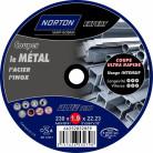 4 disques à tronçonner métal + inox diam. 230