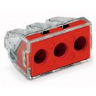 Boîte de 50 bornes Wago 3 entrées de 2,5mm² à 6mm² - Série 773