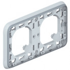 Support Plexo 2 postes horizontal - Gris