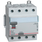Inter différentiel tétrapolaire 40A type AC - Départ bas