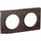Plaque 2 postes Odace Touch - Wenge