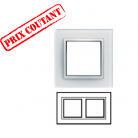 Plaque 2 postes horizontale Matière - Cristal Alba - WK802 - Hager