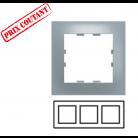 Plaque 3 postes horizontale Pop - Titane