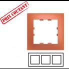 Plaque 3 postes horizontale Pop - Citrouille