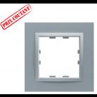 Plaque 1 poste monochrome - Titane