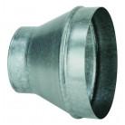 Réduction conique galva 125/80