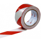 Ruban de signalisation adhésif rouge/blanc