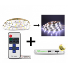 Bandeau LED 5m Blanc 36W Kit complet 6000k IP20