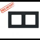 Legrand - Plaque 2 postes Niloé - Onyx- 096711
