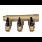 Collecteur 3 départs 3/4 (20x27) équipé de vannes 1/2 (15/21) - MH34M12X3-V - AC-FIX