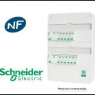 Tableau Resi9 embrochable monté 2 rangées - Schneider - Bâtir Moins Cher
