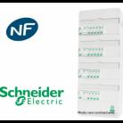Tableau Resi9 embrochable monté 4 rangées - Schneider - Bâtir Moins Cher