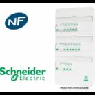 Tableau Resi9 embrochable monté 3 rangées - Schneider - Bâtir Moins Cher