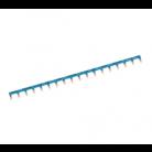 Barre pontage horizontale bleue 18 modules