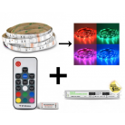 Bandeau LED 5m RGB 36W Kit complet (16 couleurs) IP20
