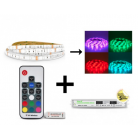 Bandeau LED 5m RGB 36W Kit complet (16 couleurs) IP65
