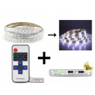 Bandeau LED 5m Blanc 36W Kit complet 6000k IP65