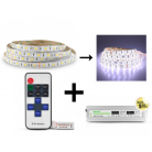 Bandeau LED 5m Blanc 72W Kit complet 6000k IP65