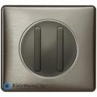 Double poussoir doigt étroit Céliane graphite - Plaque Tungstène