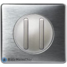 Double va et vient doigt étroit Céliane titane - Plaque aluminium
