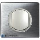 Double poussoir Céliane titane - Plaque Aluminium