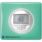 Ecodétecteur Céliane blanc - Plaque 50's turquoise