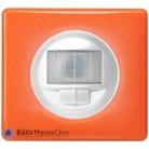 Ecodétecteur avec marche/arrêt Céliane blanc - Plaque 70's orange