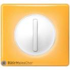 Poussoir étroit Céliane blanc - Plaque Today jaune