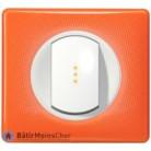 Va et vient voyant lumineux Céliane blanc - Plaque 70's orange
