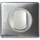 Va et vient à voyant lumineux Céliane titane - Plaque Aluminium