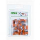 Boîte de 30 bornes Wago 3 entrées - Série 2273 - Wago - 2273-203-996-030