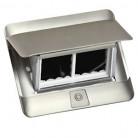 Prise escamotable Pop up mobilier 4 modules à équiper livré avec kit d'installation - inox mat