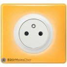 Prise Surface Céliane blanc - Plaque Today jaune