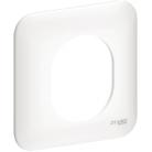 Plaque 1 poste Ovalis - Blanc