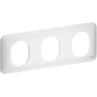 Plaque 3 postes horizontaux Ovalis - Blanc - S260706 - Schneider