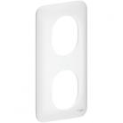 Plaque 2 postes verticaux Ovalis - Blanc - S260724 - Schneider
