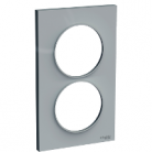 Plaque 2 postes Odace Styl entraxe 57mm - Gris pierre
