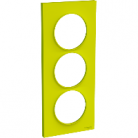 Plaque 3 postes Odace Styl entraxe 57mm - Vert chartreuse