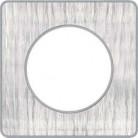 Plaque 1 poste Odace Touch - Aluminium brossé croco