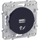 Prise chargeur USB Odace - Anthracite S540408 Schneider