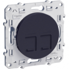 Double prise RJ45 informatique Odace - Anthracite