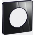 Plaque 1 poste Odace Touch - Aluminium brillant fumé