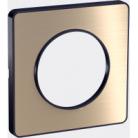 Plaque 1 poste Odace Touch - Bronze brossé