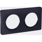 Plaque 2 postes Odace Touch - Anthracite