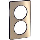 Plaque 2 postes Odace Touch entraxe 57mm - Bronze brossé
