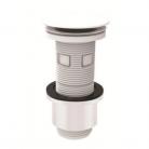 Bonde lavabo universelle blanche clic-clac 2865455 Bâtir Moins Cher