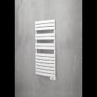 Sèche-serviettes électrique cintré AUBE 750W Blanc + télécommande 2864268 Bâtir Moins Cher